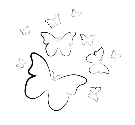 Butterflies background Stock Vector - 16841628