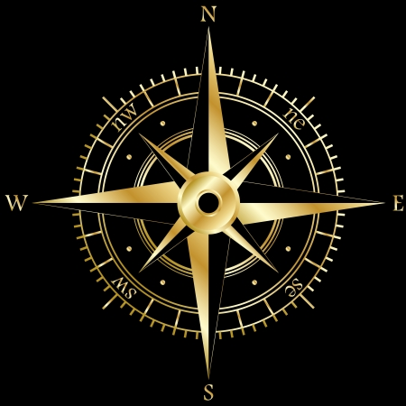 wind rose: Golden wind rose