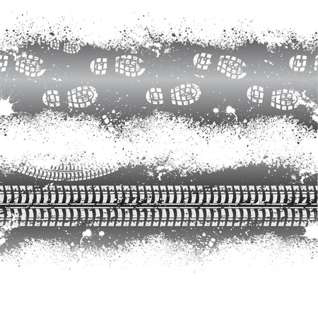 tire imprint: Grunge banners