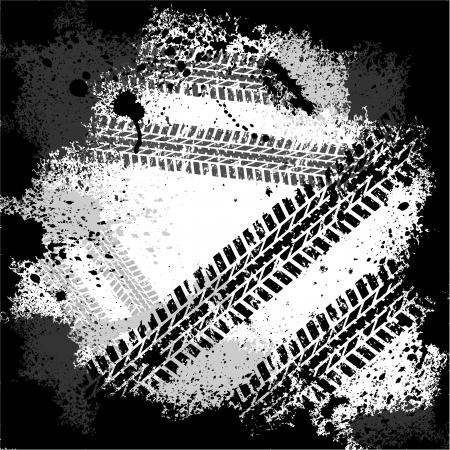 Macchie d'inchiostro pneumatico traccia