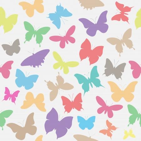 Seamless butterflies Stock Vector - 16841623