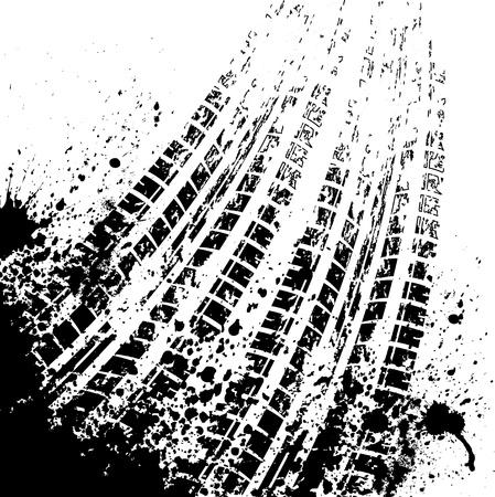 huellas de neumaticos: Tire fondo pista