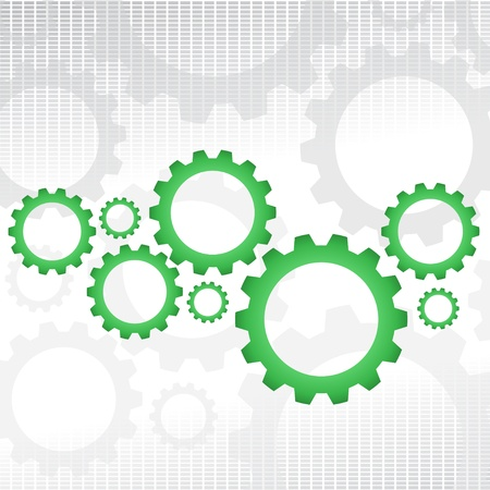 Green gears Stock Vector - 16917489