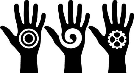 Black hands Stock Vector - 16945073