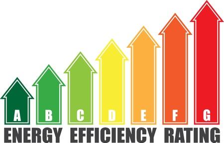 energy ranking: Energy efficiency arrows