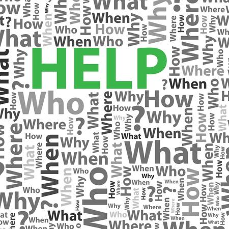 Help background Stock Vector - 16945101