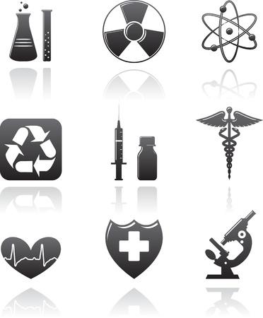 surgical: Medicine icons Illustration