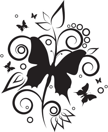 black and white: Butterfly