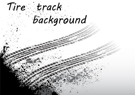 motorized sport: Tire track black