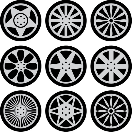 alloy wheel: Car wheels Illustration