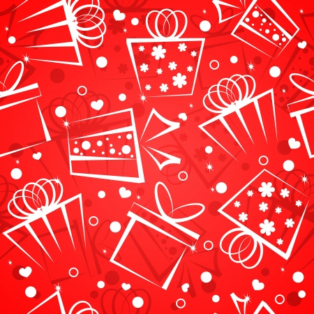 Gift box red background Vector