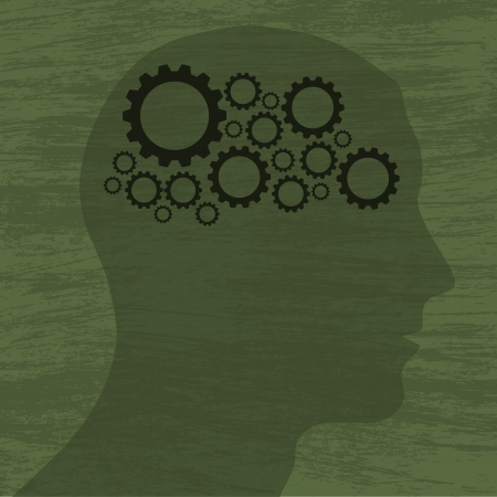 Gears in head Vector