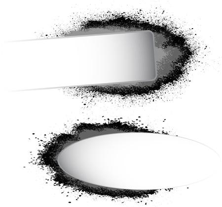 Ink blots frame Stock Vector - 17193178