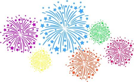 descriptive color: Firework color