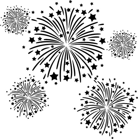 fireworks display: Firework black Illustration