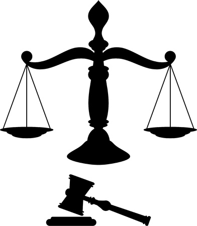 legal scales: Scales of justice Illustration