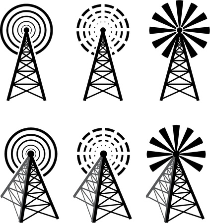 Radio tower Stock Vector - 17193189