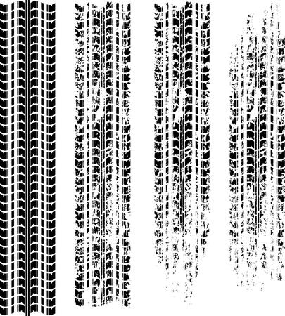 huellas de neumaticos: Pistas negras de neum�ticos Vectores