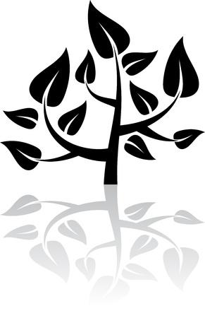 abstract design elements: Black tree Illustration