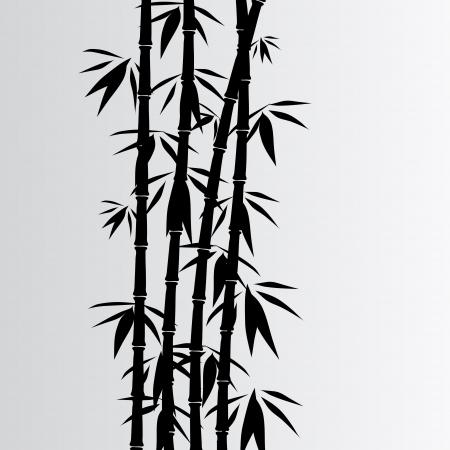Grigio sfondo di bambù
