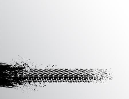 Tire fondo pista Ilustración de vector