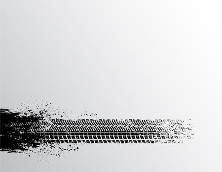 Tire track Hintergrund Illustration