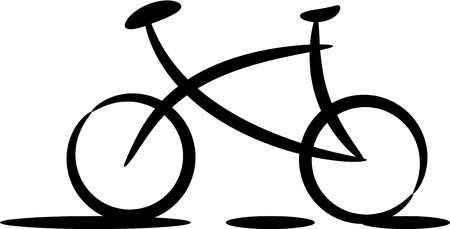Bicycle silhouette Stock Vector - 17250177