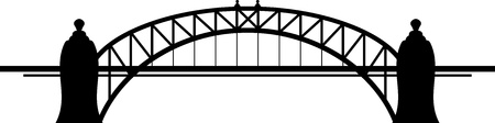 steel arch bridge: Bridge Illustration