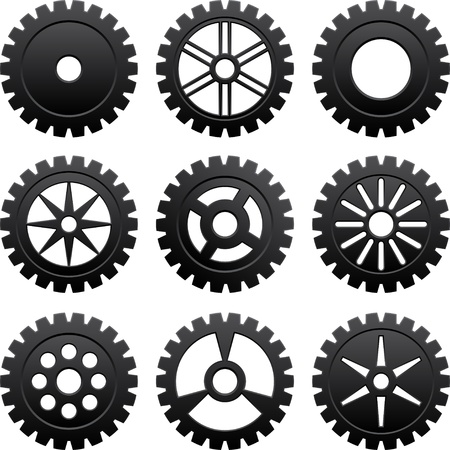 Gears set Stock Vector - 17250186