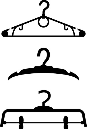clothing rack: Hangers silhouettes Illustration