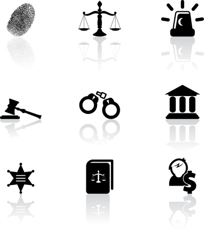 Justice icons Stock Vector - 18550980