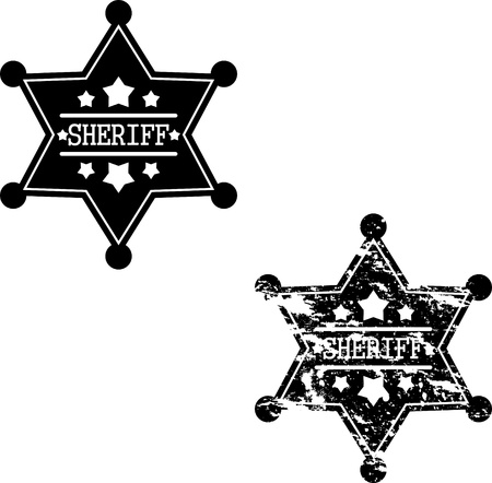 deputy sheriff: Two sheriff badges