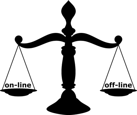 courthouse: Scales of justice Illustration