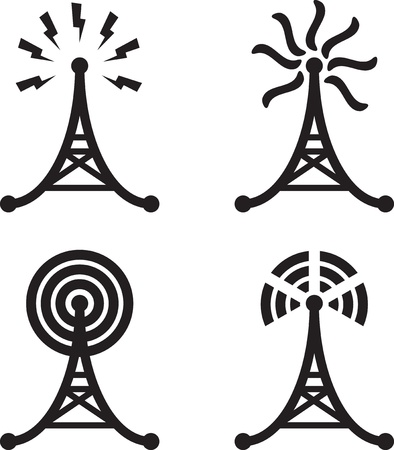 electrical tower: Torre de radio