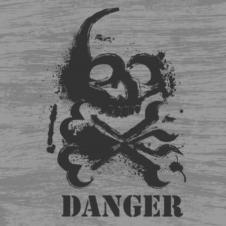 animal body part: Danger background