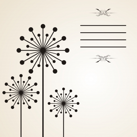 dandelion flower: Dandelion background Illustration