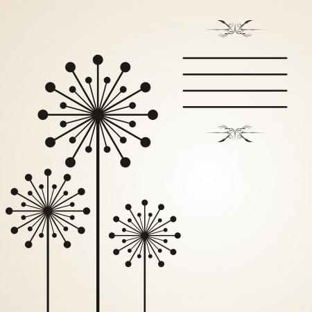 blowing wind: Dandelion background Illustration