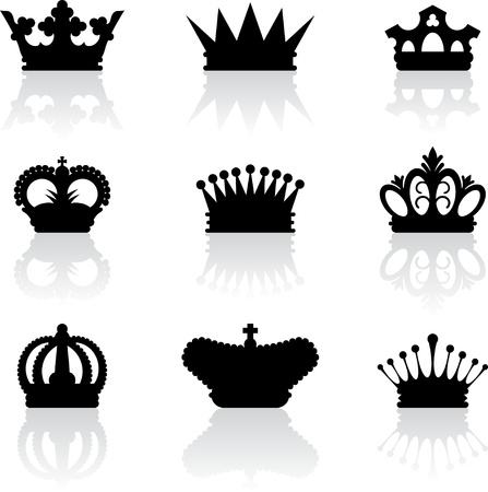 corona reina: Corona del rey iconos