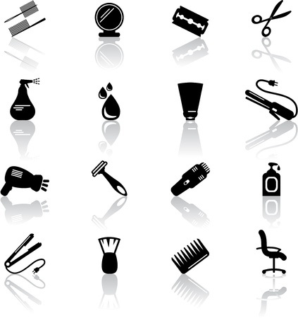 Hair salon icons Vector