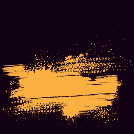 Oranje band spoor achtergrond Vector Illustratie