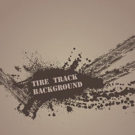 タイヤ トラック バック グラウンド  イラスト・ベクター素材
