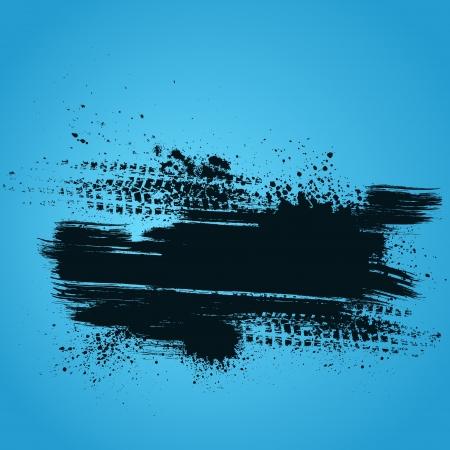 huellas de llantas: Azul neum�tico pista de fondo Vectores