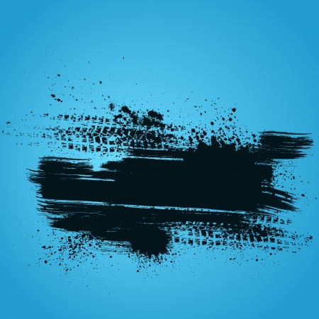 Blue tire track background