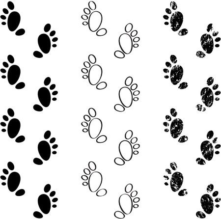 Black footprints Stock Vector - 19079748