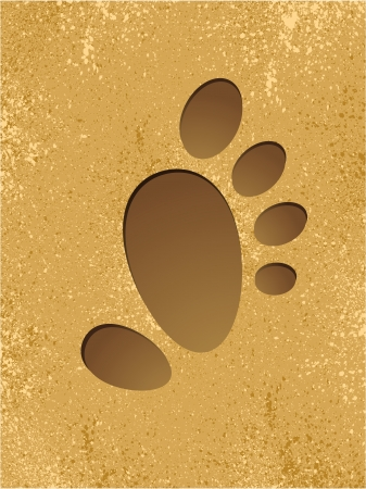Footprint on a beach Stock Vector - 19079773