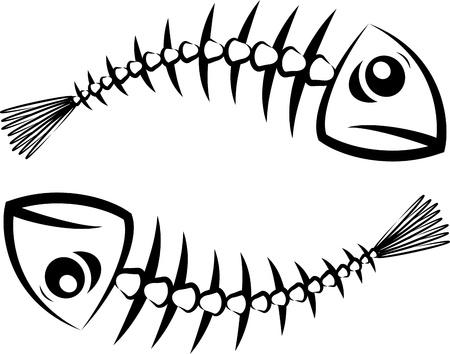 leven en dood: Vis silhouet