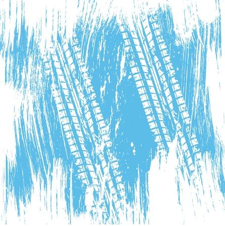 mud print: Blue tire track background