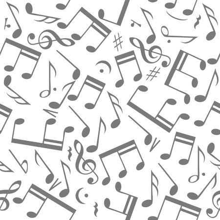 Black music notes on white background. eps10 Vector