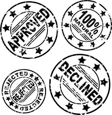 Set of round stamps with different text. eps10 Stock Vector - 22200746