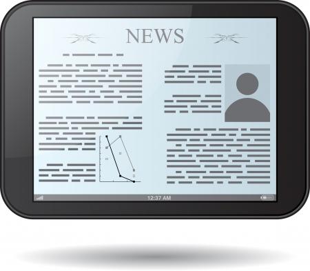 Black tablet pc on white background. eps10 Stock Vector - 22200749